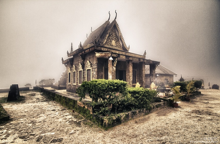 This older Pagoda was build during French colony in Cambodia, and the location is Bokor mountain, Kampot province, Cambodia