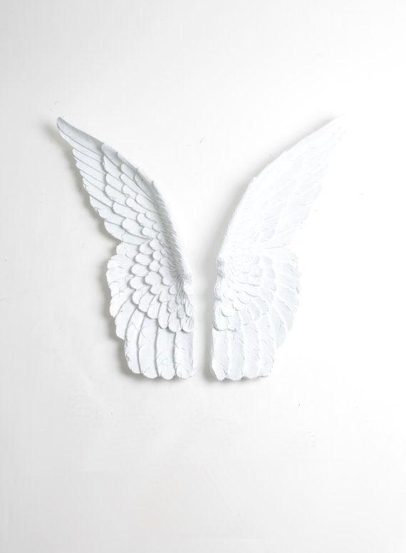 mini guardian angel set of bird wings in white angel wings wall decor baby