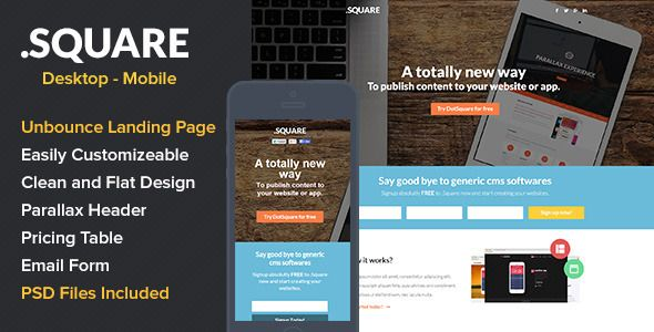 DotSquare App Landing Page - Unbounce Marketing