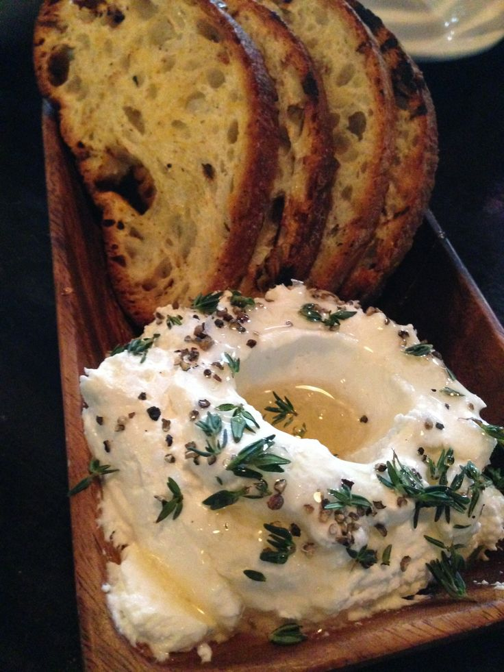 Sheep's Milk Ricotta with Truffled Honey and Herbs at Locanda Verde in ...
