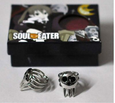 1 Pair Cosplay Anime Ring Soul Eater Death The Kid Cosplay 2 Rings Set
