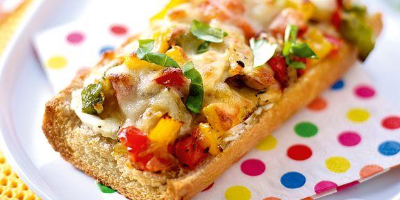 Provençaalse pizza-baguettes