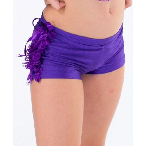 Frilled Hot Pants with Lace by Cosi G Dancewear