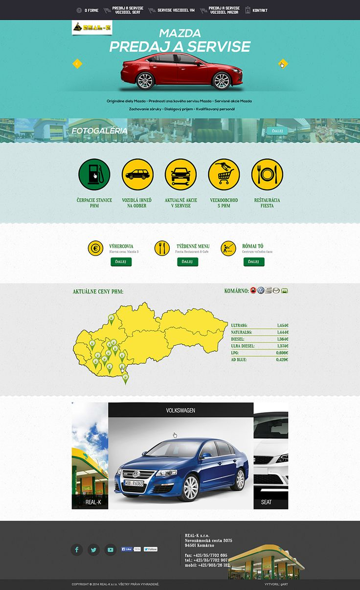 GAS STATION and CAR SERVICE web design on Behance