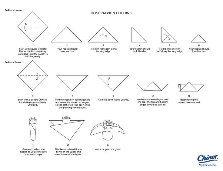 How to fold napkins into flowers my web value napkin folding mychinet mightylinksfo Image collections