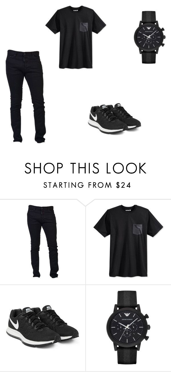 """""""OP"""" by aiste-mini on Polyvore featuring Dsquared2, Hurley, NIKE and Emporio Armani"""