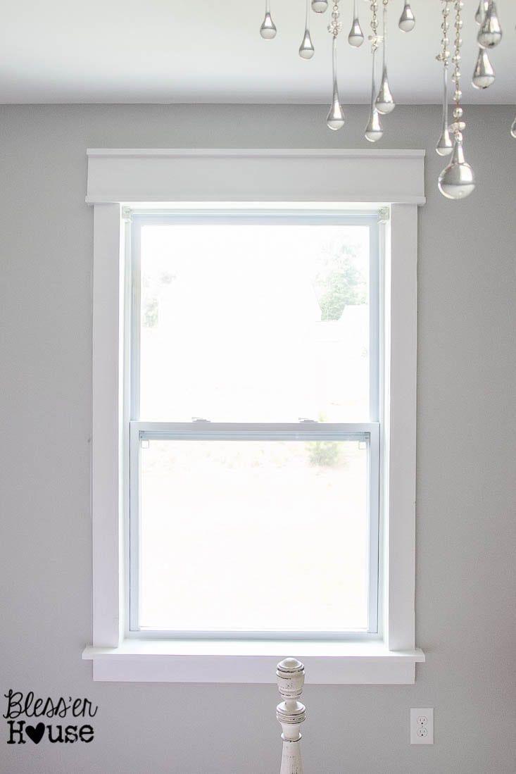 Diy Window Trim The Easy Way Interior Window Trim Interior Windows Home Improvement Projects