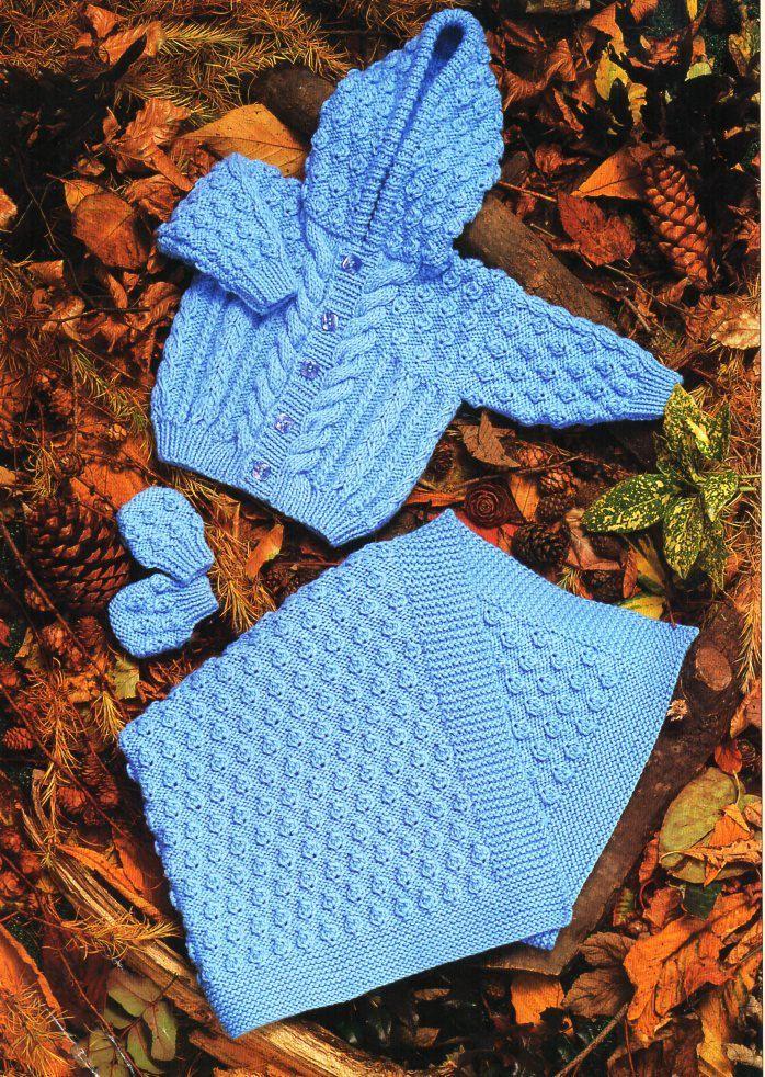 188 mejores imágenes en Vintage Baby & Children aran knitting ...