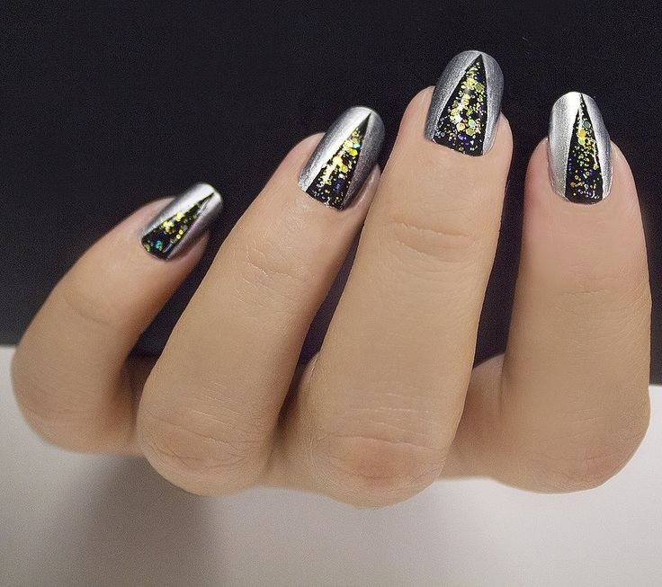 160 best New Years Eve Nail Art Ideas and Makeup images on Pinterest ...