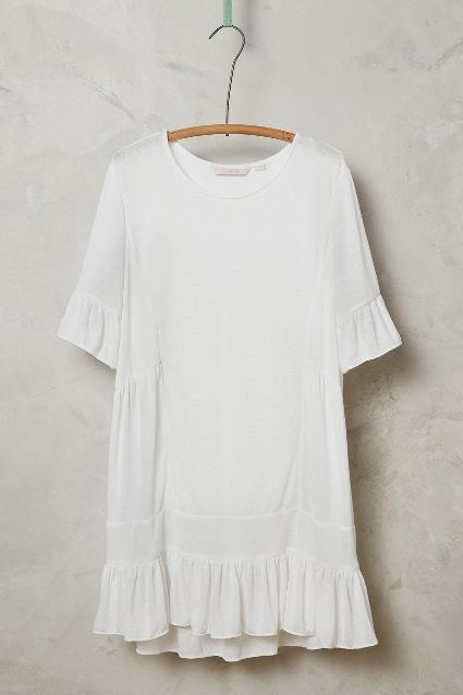 Fluttered Peasant Tunic #anthrofave