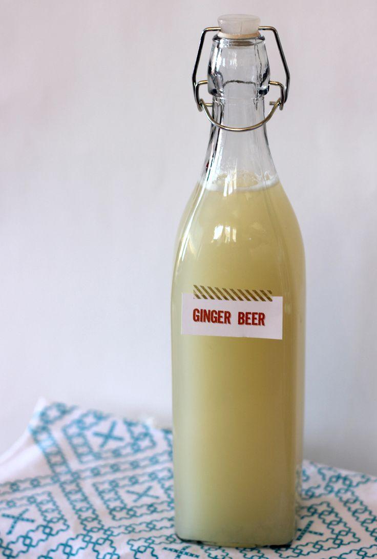 Homemade ginger beer recipe on aliceanldois.com