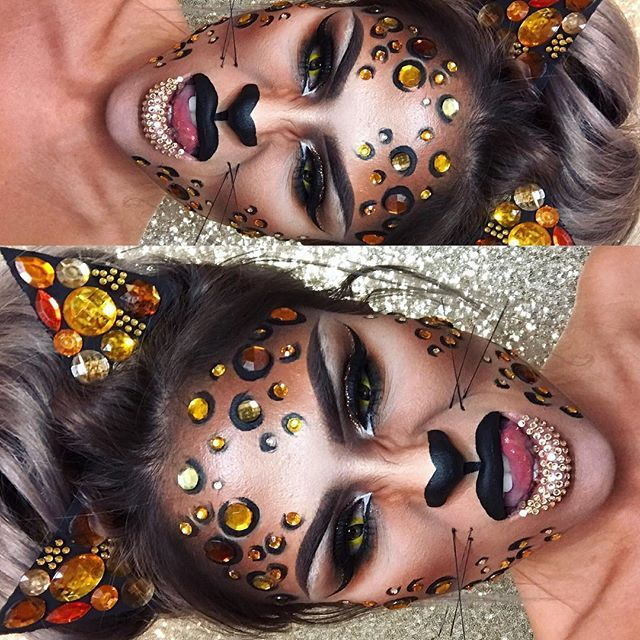 BLING KITTY  last Halloween post guys!! Hope you have loved them as much as I've loved doing them!! ..,  HAPPY HALLOWEEN!!  #staceymcmua #halloween #blingkitty
