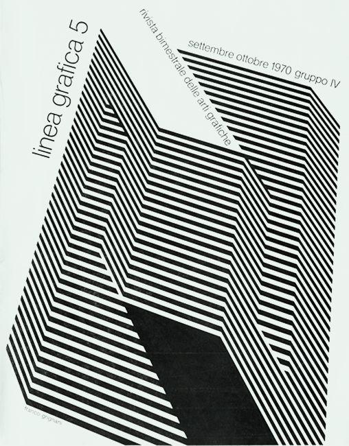 «Linea Grafica» 5/1970, Archivio/Fondo Alfredo Mastellaro. Cover by Franco Grignani