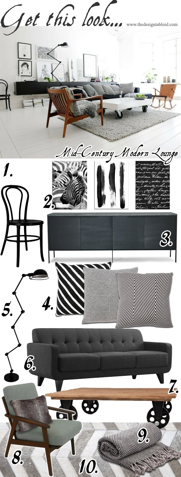 Get The Look - Mid - Century Modern Lounge - The Design Tabloid