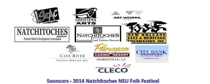 Sponsors of the 2014 Natchitoches-NSU Folk Festival