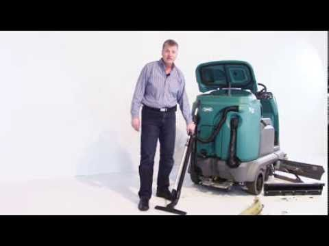visit us at: http://www.thesweeper.com/ Rick Schott, President of Factory Cleaning Equipment, inc. giving a brief walk around description of the Tennant T12 Industrial Rider Scrubber/Sweeper.