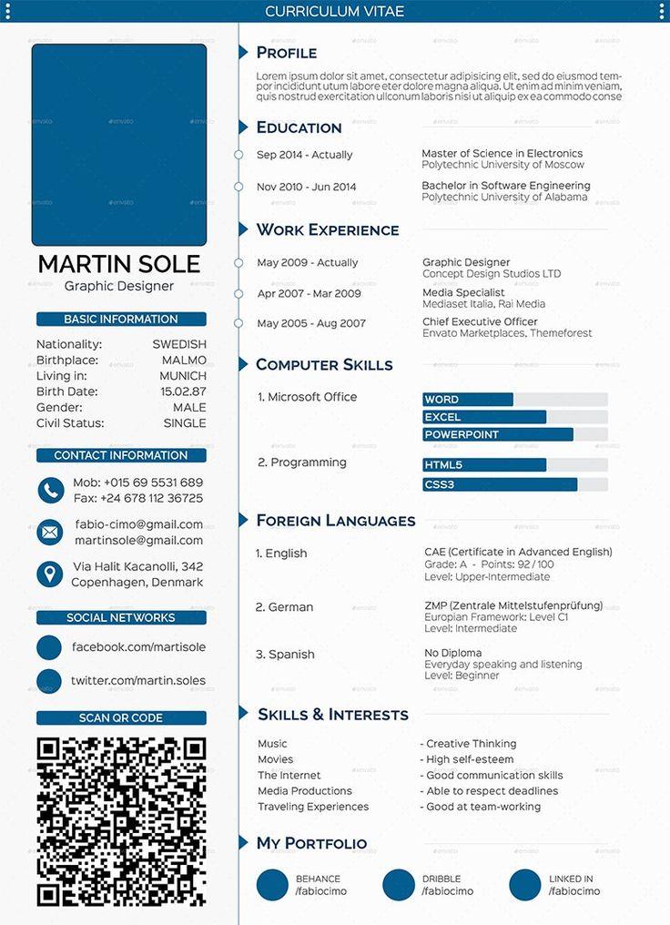 Cv Resume Template Online