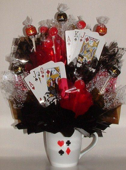 TEXAS HOLD 'EM Poker Candy Bouquet / Centerpiece by CandyFlorist, $23.95