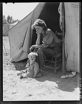 The depression.  I really wish that people would look at this photo.  Really look at it.  There are so many whiners that think they have it rough today and that someone owes them something.  Look again....