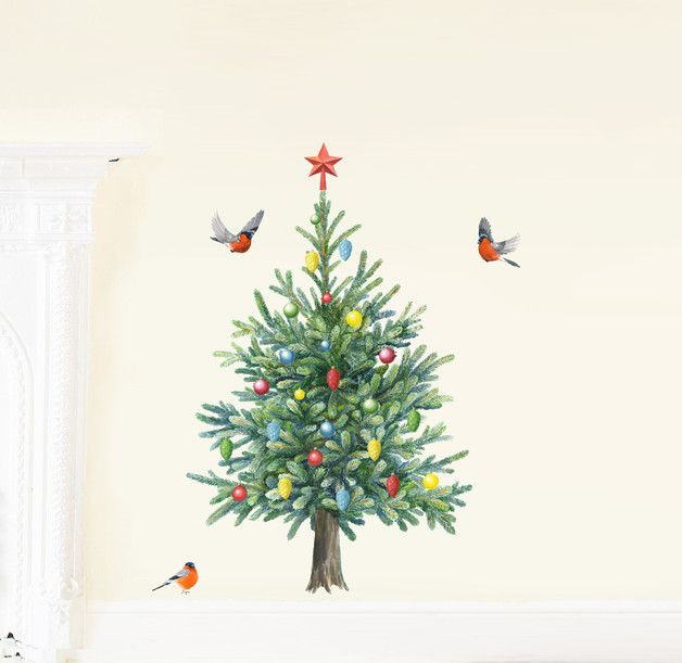 Wall Decals – Fir Tree Fabric Wall Stickers Medium – a unique product by Chocovenyl on DaWanda