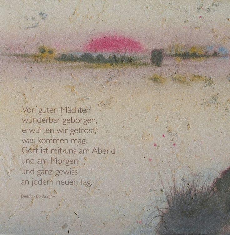 Wandrelief Von guten Mächten wunderbar geborgen 17x17 cm 67992