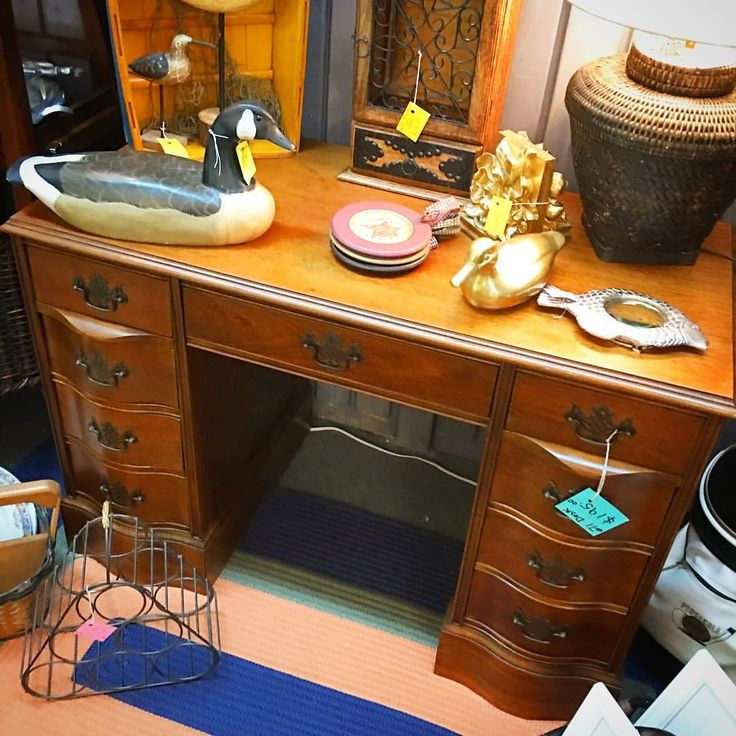 Gorgeous solid wood desk with beautiful details for $19500 from vendor 71! shopalyssas homeoffice upsideofflorida shoplocal