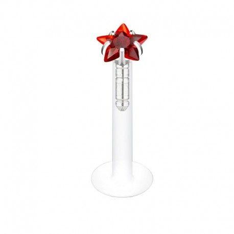 Piercing Labret Etoile rouge https://piercing-pure.fr/p/192-piercing-labret-etoile-rouge.html #piercingstar #etoile #piercing #piercingoreille #tragus