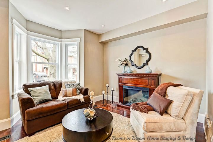Vacant remodeled Guelph home staged by Rooms in Bloom.