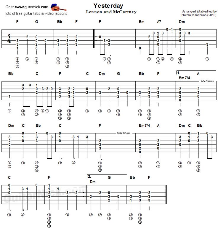 THE BEATLES chords | E-Chords.com