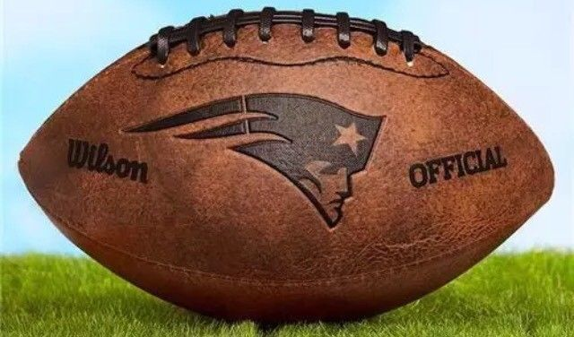 WILSON OFFICIAL NFL NEW ENGLAND PATRIOTS THROWBACK LEATHER FOOTBALL MEMORABILIA | eBay