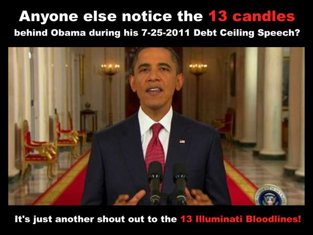 Obama's 13 candles | 33 Signs The Illuminati Is Real