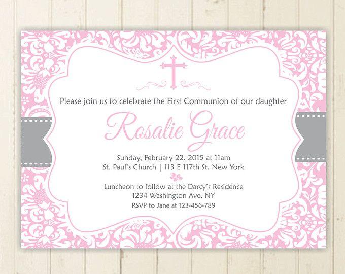 niña comunión invitación primera comunión bautizo invitación de bautismo para imprimir de invitación chica invitación confirmación invitación 165