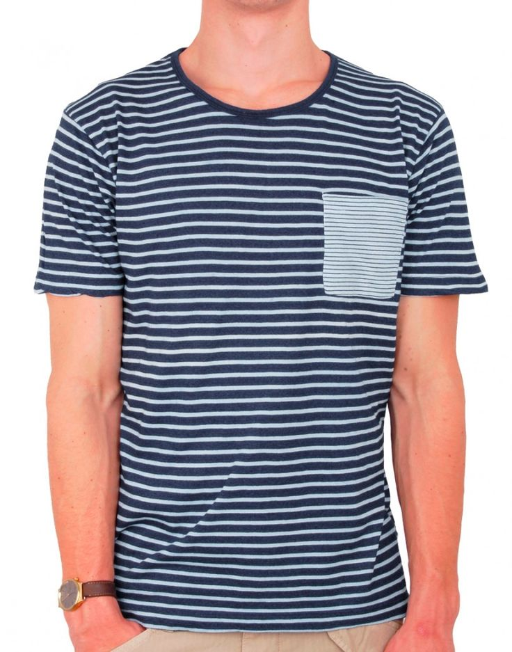 T-shirt à rayures esprit Marin SELECTED #look #rayures #marin #modehomme