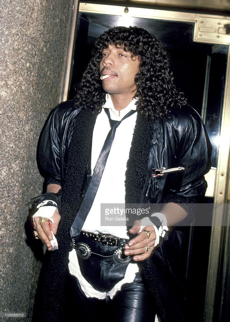 Rick James during Rick James Sighting in New York City - February 15, 1984 at Rockefeller Center in New York City, New York, United States.