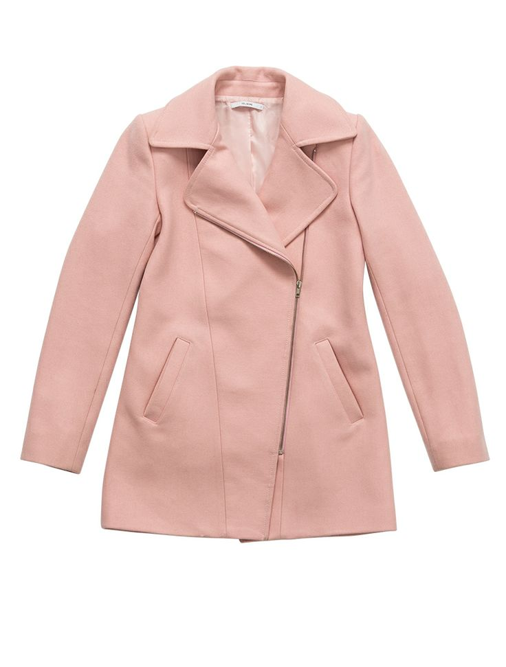YB J'AIME Zip Detail Coat - Pale Pink #AW14