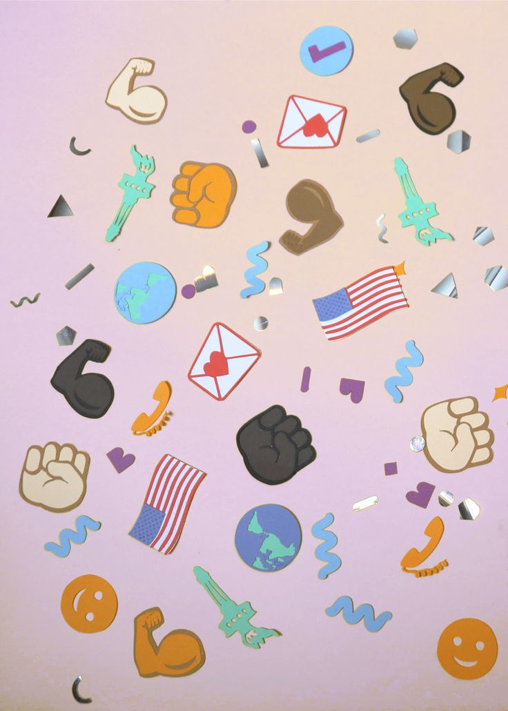 A NEW YEARS REVOLUTION, A organization dedicated to civic engagement and productive protest for positive impact, asked me to create custom emoji confetti. We chose emoji symbols that support the group's daily calls to action for instagram posts and website banners.