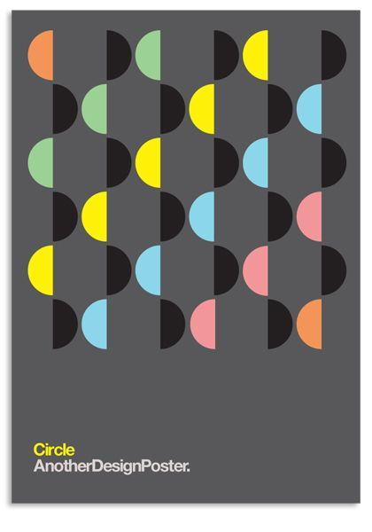 AnotherDesignPoster - Modernist Circles Set on Behance
