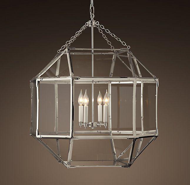 lighting parisian octagonal chandelier i restoration hardware octagonal polished nickel chandelier