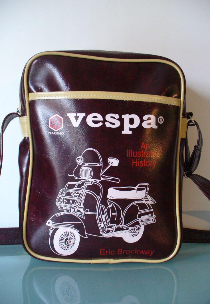 Vintage Vespa Vinyl Motorcycle Messenger Bag by TheOldBagOnline on Etsy