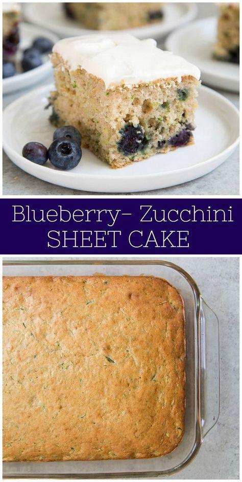 Blaubeerzucchini-Blatt-Kuchen   – Other Recipes