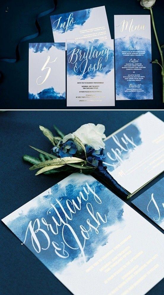 Bohemian Wedding Invitations water colour effect 28