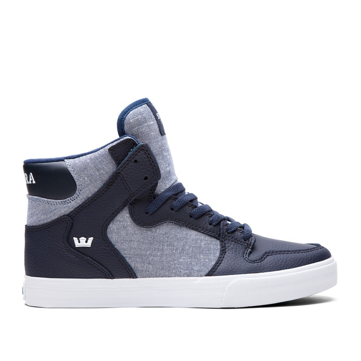 5 Supra Muska Sky Low black denim Premium Skate Fashion Sneakers sz 7