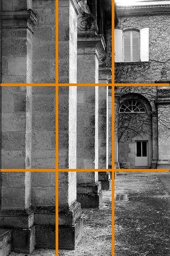Cloître photo exemple Grille composition règle des tiers