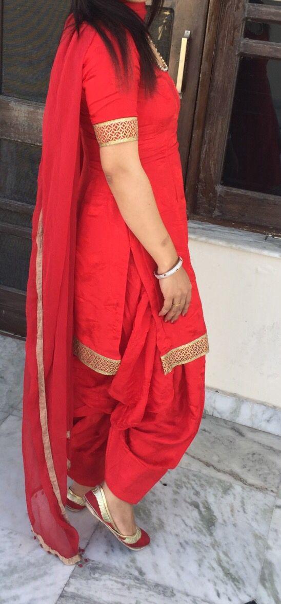 Simple yet elegant red suit