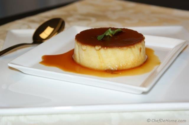Kahlua Flan - A delicious dessert for family dinner!