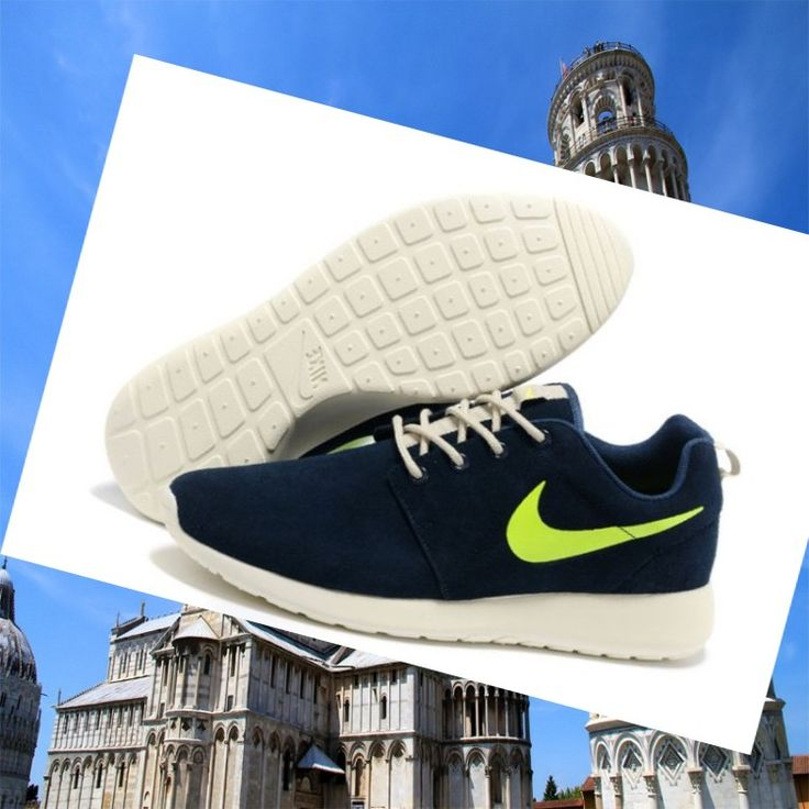 Uomochester Nike Roshe Run Uomini Blu Marine Fluorescente Bianca Gre HOT SALE! HOT PRICE!