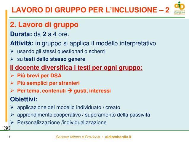 LAVORO DI GRUPPO PER L'INCLUSIONE – 2 2. Lavoro di gruppo Durata: da 2 a 4 ore. Attività: in gruppo si applica il modello ...