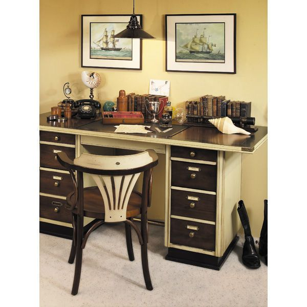 Captain S Desk In Ivory Nautical Image