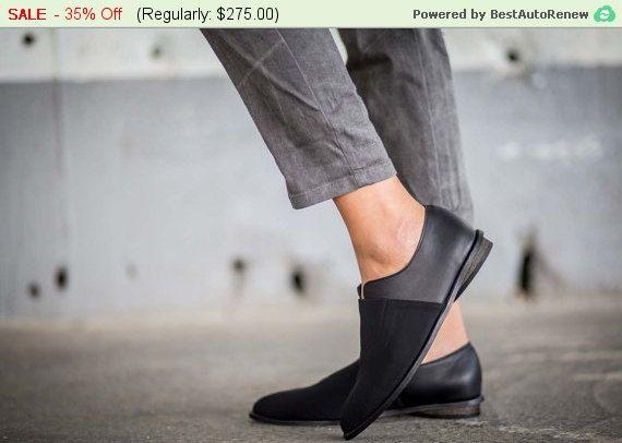 Vendita di 35% scarpe di cuoio scarpe nere scarpe fatte di abramey