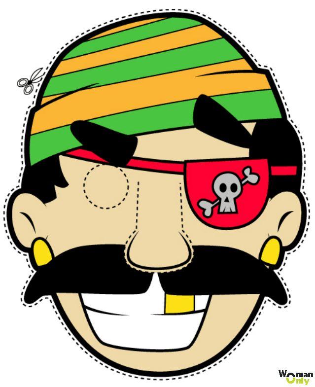 Новогодние маски из бумаги - праздник уже с вами маска пирата